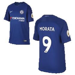 Футбольное джерси для школьников 2017/18 Chelsea FC Stadium Home (Alvaro Morata)Футбольное джерси для школьников 2017/18 Chelsea FC Stadium Home (Alvaro Morata) из дышащей влагоотводящей ткани обеспечивает охлаждение и комфорт.<br>