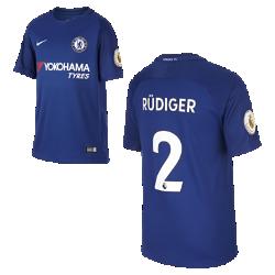 Футбольное джерси для школьников 2017/18 Chelsea FC Stadium Home (Antonio Rudiger)Футбольное джерси для школьников 2017/18 Chelsea FC Stadium Home (Antonio Rudiger) из дышащей влагоотводящей ткани обеспечивает охлаждение и комфорт.<br>