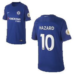 Футбольное джерси для школьников 2017/18 Chelsea FC Stadium Home (Eden Hazard)Футбольное джерси для школьников 2017/18 Chelsea FC Stadium Home (Eden Hazard) из дышащей влагоотводящей ткани обеспечивает охлаждение и комфорт.<br>