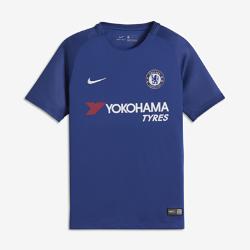 Футбольное джерси для школьников 2017/18 Chelsea FC Stadium HomeФутбольное джерси для школьников 2017/18 Chelsea FC Stadium Home из дышащей влагоотводящей ткани обеспечивает охлаждение и комфорт.<br>