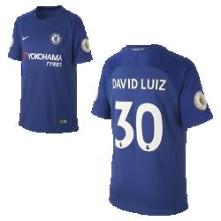 Футбольное джерси для школьников 2017/18 Chelsea FC Stadium Home (David Luiz)Футбольное джерси для школьников 2017/18 Chelsea FC Stadium Home (David Luiz) из дышащей влагоотводящей ткани обеспечивает охлаждение и комфорт.<br>