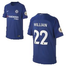 Футбольное джерси для школьников 2017/18 Chelsea FC Stadium Home (Willian Borges)Футбольное джерси для школьников 2017/18 Chelsea FC Stadium Home (Willian Borges) из дышащей влагоотводящей ткани обеспечивает охлаждение и комфорт.<br>
