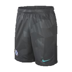 Футбольные шорты для школьников 2017/18 Chelsea FC Stadium ThirdФутбольные шорты для школьников 2017/18 Chelsea FC Stadium Third из легкой ткани со вставками из эластичной сетки обеспечивают длительный комфорт и естественную свободу движений.<br>