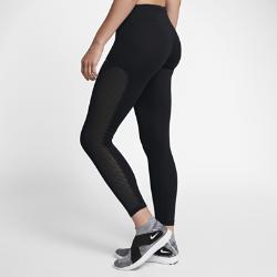 Женские беговые тайтсы Nike RacerЖенские беговые тайтсы Nike Racer из эластичного материала обеспечивают поддержку во время бега, а обхватывающие ноги вставки из сетки создают оптимальную вентиляцию.<br>
