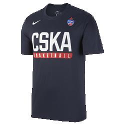 Мужская баскетбольная футболка CSKA Moscow PracticeМужская баскетбольная футболка CSKA Moscow Practice из влагоотводящей ткани обеспечивает комфорт во время игры.<br>