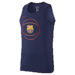 Мужская баскетбольная майка FC Barcelona CrestМужская баскетбольная майка FC Barcelona Crest из влагоотводящей ткани обеспечивает комфорт.<br>