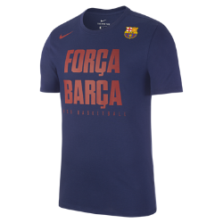 Мужская баскетбольная футболка FC Barcelona DryМужская баскетбольная футболка FC Barcelona Dry из влагоотводящей ткани обеспечивает комфорт.<br>