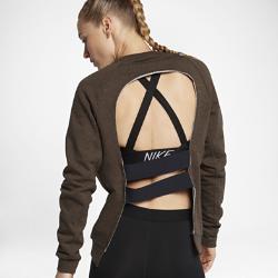 Женская футболка для тренинга с длинным рукавом Nike DryЖенская футболка для тренинга с длинным рукавом Nike Dry из влагоотводящей ткани с открытой конструкцией спины обеспечивает охлаждение и комфорт во время тренировки.<br>