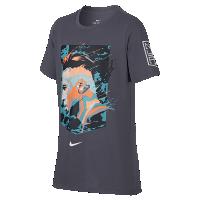 <ナイキ(NIKE)公式ストア> ネイマール ジュニオール ナイキ Dri-FIT ジュニア (ボーイズ) Tシャツ 909860-011 グレー画像