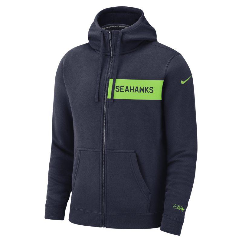 Nike (NFL Seahawks) Yünlü Tam Boy Fermuarlı Erkek Kulüp Kapüşonlu Üst  910682-419 -  Mavi S Beden Ürün Resmi