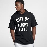 <ナイキ(NIKE)公式ストア> ジョーダン スポーツウェア City of Flight メンズ フーデッド フリース Tシャツ 911317-010 ブラック画像