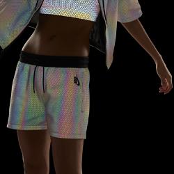Женские шорты NikeLab Essentials Aurora RevealЖенские шорты NikeLab Essentials Aurora Reveal с разноцветными светоотражающими элементами, созданными с помощью инновационной технологии Aurora Reveal, создают яркий образ на каждыйдень.<br>