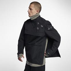 Мужская непромокаемая куртка NikeLab ACG Pull-OverМужская непромокаемая куртка NikeLab ACG Pull-Over с продуманным кроем рукавов и крупным логотипом ACG на груди обеспечивает естественную свободу движений.  ЗАЯВИ О СЕБЕ  Эту яркую модель с сетчатым нагрудным карманом удобно снимать и надевать благодаря асимметричной молнии на горловине и боковом шве.  НАДЕЖНАЯ ПОСАДКА  Боковые карманы и манжеты с застежкой на липучке обеспечивают надежное хранение.<br>