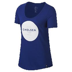 Женская футболка Chelsea FC SquadЖенская футболка Chelsea FC Squad из мягкой смесовой ткани обеспечивает длительный комфорт на трибунах и на улице.<br>