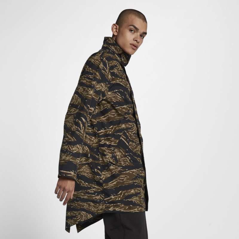 Nike NikeLab Essentials Tiger Camo Parka Mens Jacket - Khaki