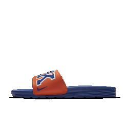 Мужские шлепанцы Nike Benassi NBAМужские шлепанцы Nike Benassi NBA обеспечивают легкость и комфорт благодаря текстурированной стельке Solarsoft и гибкой подошве из пеноматериала.<br>