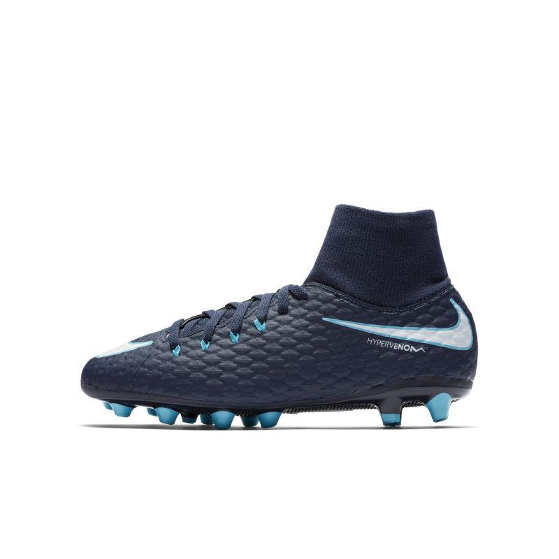 Nike Jr. Hypervenom Phelon III Dynamic Fit AG-PRO Younger/Older Kids'Artificial-Grass Football Boot - Blue Image