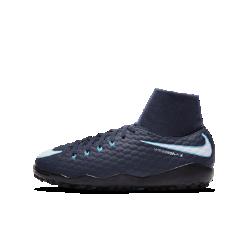 Футбольные бутсы для игры на искусственном газоне для школьников Nike Jr. HypervenomX Phelon III Dynamic FitСозданные для атакующих игроков футбольные бутсы для игры на искусственном газоне для школьников Nike Jr. HypervenomX Phelon III Dynamic Fit с анатомической посадкой и особым рельефом по всей поверхности обеспечивают непревзойденную маневренность и улучшенный контроль мяча на синтетических покрытиях.<br>