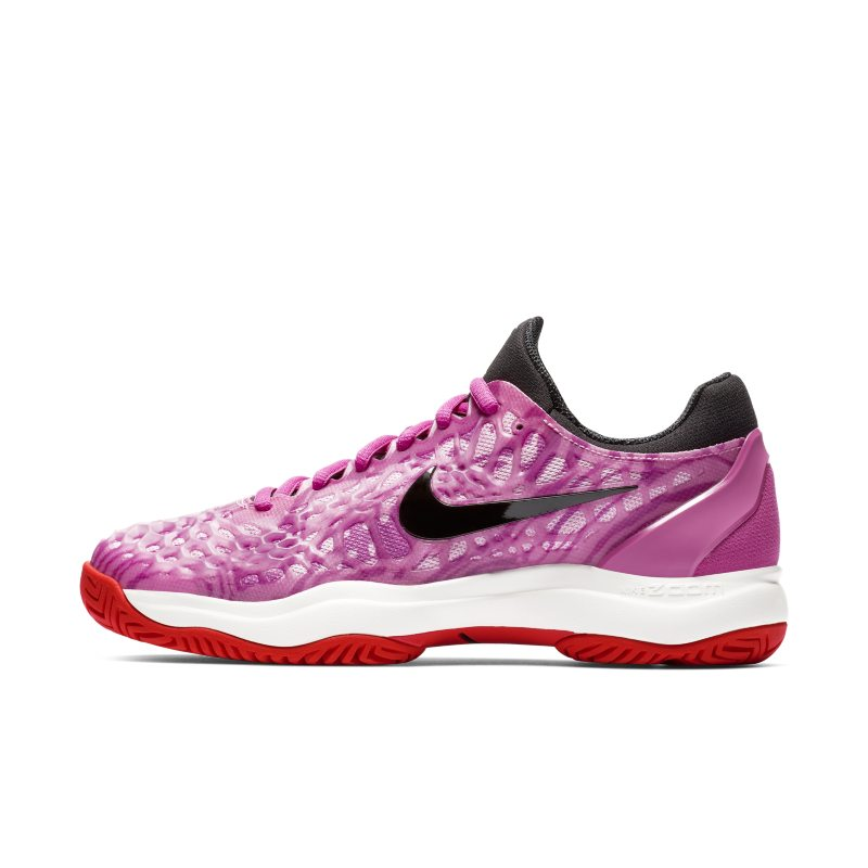NikeCourt Zoom Cage 3 Zapatillas de tenis de pista rápida - Mujer - Rojo