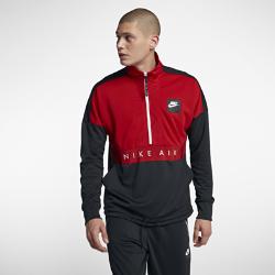 Мужская футболка с молнией на половину длины Nike AirМужская футболка с молнией на половину длины Nike Air с фирменными элементами и утягивающим шнурком в нижней кромке обеспечивает комфорт.<br>