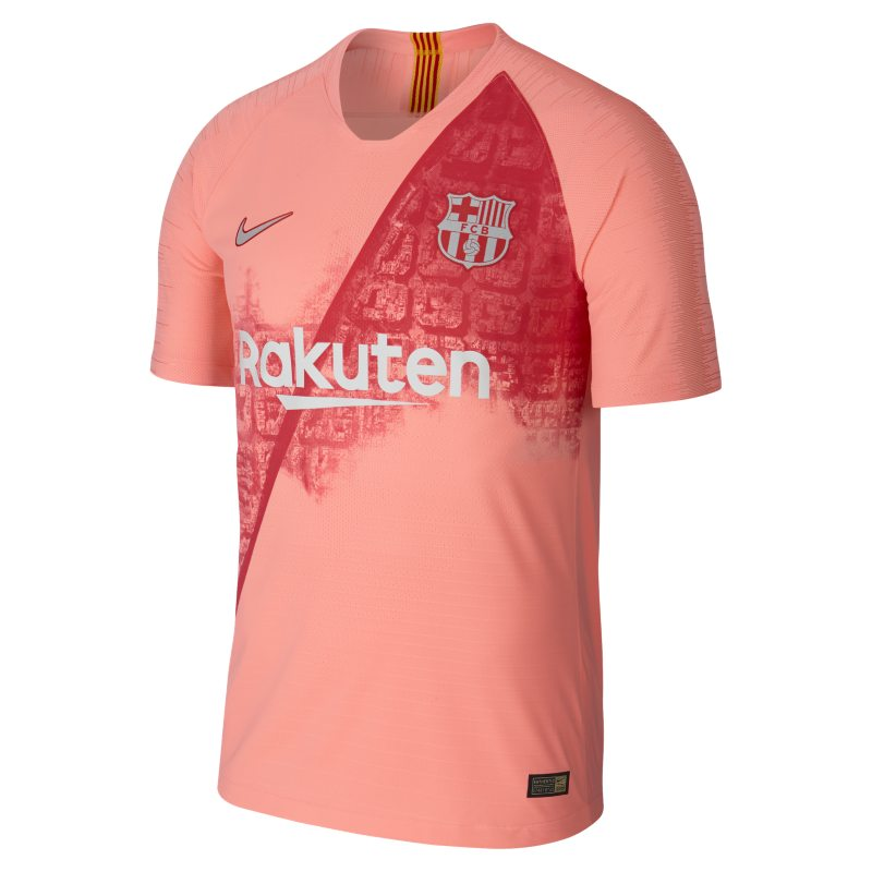 2018 19 FC Barcelona Vapor Match Third Men s Football Shirt - Pink 727cf623747b0