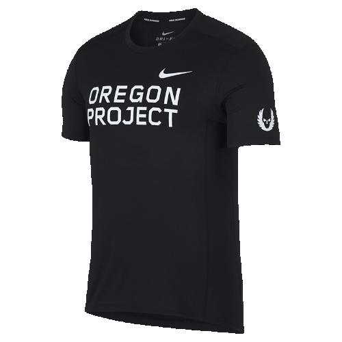<ナイキ(NIKE)公式ストア>ナイキ マイラー オレゴン プロジェクト メンズ ショートスリーブ ランニングトップ 920452-010 ブラック