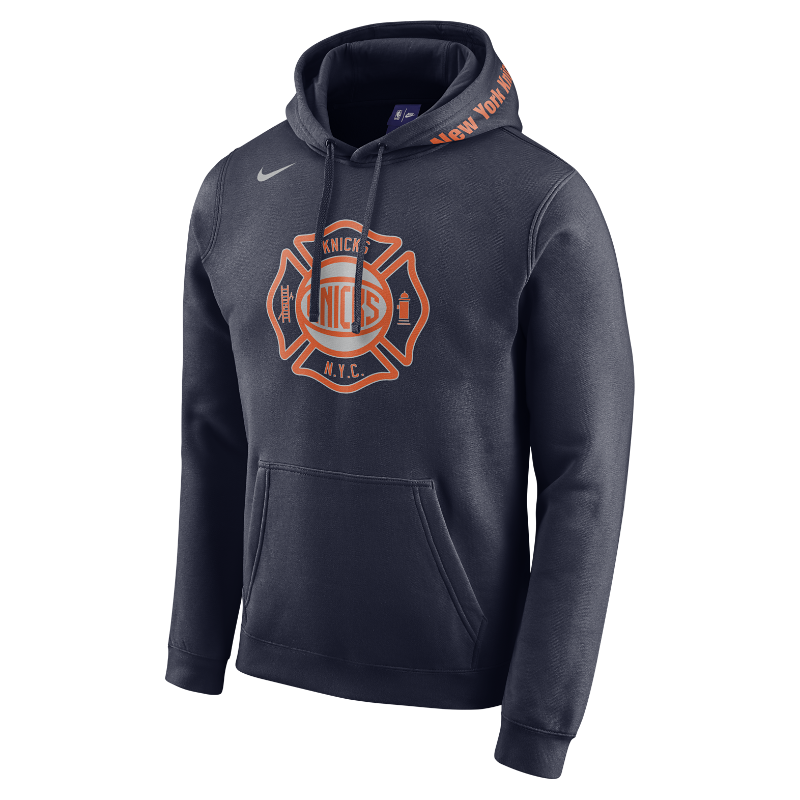 sweat a capuche nba new york knicks city edition nike pour homme. Black Bedroom Furniture Sets. Home Design Ideas