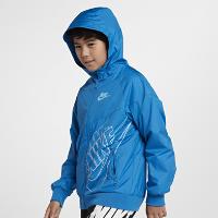 <ナイキ(NIKE)公式ストア>ナイキ スポーツウェア ウィンドランナー ジュニア (ボーイズ) ジャケット 921146-465 ブルー画像