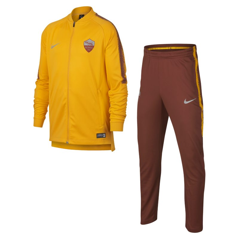 A.S. Roma Dri-FIT Squad Older Kids Football Track Suit - Gold