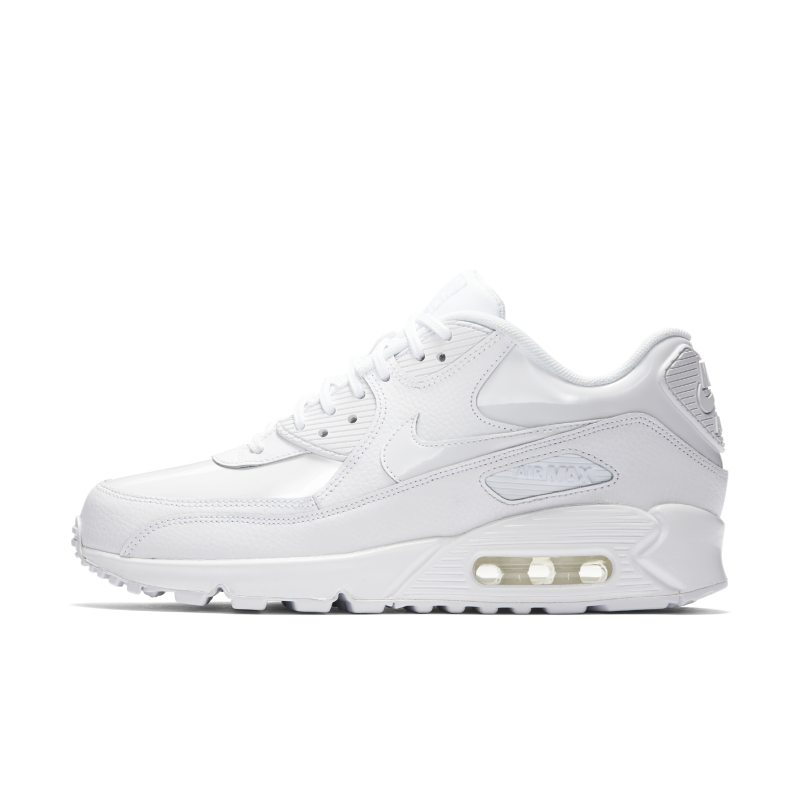 new style 40d44 7dad6 Nike Air Max 90 Patent Women s Shoe - White Image