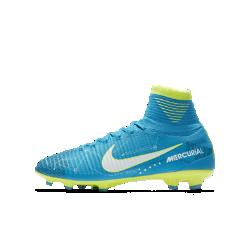 Футбольные бутсы для игры на твердом грунте для школьников Nike Jr. Mercurial Superfly V Dynamic Fit NeymarФутбольные бутсы для игры на твердом грунте для школьников Nike Jr. Mercurial Superfly V Dynamic Fit Neymar обеспечивают превосходное касание мяча, легкость и надежную посадку для высокой скорости на полях с короткой травой.<br>