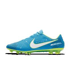 Футбольные бутсы для игры на твердом грунте Nike Mercurial Veloce III NeymarФутбольные бутсы для игры на твердом грунте Nike Mercurial Veloce III Neymar, созданные для современной динамичной игры, обеспечивают адаптивную посадку, превосходное касание мяча и сцепление на полях с короткой травой.<br>