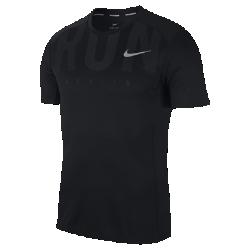 Мужская беговая футболка с коротким рукавом Nike Miler (Berlin 2017)Мужская беговая футболка с коротким рукавом Nike Miler (Berlin 2017) из влагоотводящей ткани обеспечивает комфорт от старта до финиша.<br>