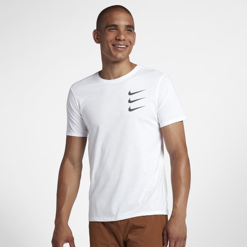 <ナイキ(NIKE)公式ストア> ナイキ Dri-FIT ラン ディビジョン メンズ ランニング Tシャツ 923222-100 ホワイト ★30日間返品無料 / Nike+メンバー送料無料
