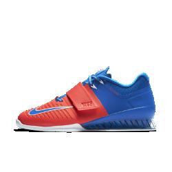 Мужские кроссовки для тяжелой атлетики Nike Romaleos 3 AMPМужские кроссовки для тяжелой атлетики Nike Romaleos 3 AMP созданы для тренировок с весом. Супинатор в форме медовых сот обеспечивает невесомую стабилизацию, а технологияFlywire и ремешок в средней части фиксируют стопу во время интенсивных тренировок.<br>