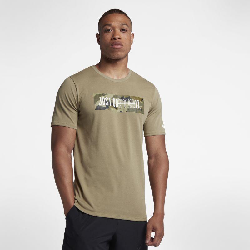 Nike Dri-FIT Men's Camo Training T-Shirt - Olive Image