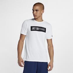 Мужская футболка для тренинга Nike Dri-FITМужская футболка для тренинга Nike Dry из влагоотводящей ткани обеспечивает комфорт, помогая добиваться максимальных результатов на тренировке.<br>