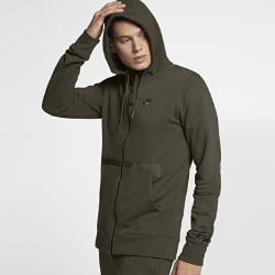 Мужская худи с молнией во всю длину Nike Sportswear Air Force 1Мужская худи с молнией во всю длину Nike Sportswear Air Force 1 из мягкой ткани френч терри обеспечивает тепло и комфорт.<br>