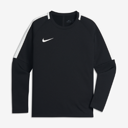 Футбольный свитшот для мальчиков школьного возраста Nike Dri-FIT AcademyЛегкий и теплый футбольный свитшот для мальчиков школьного возраста Nike Dri-FIT Academy из эластичной влагоотводящей ткани обеспечивает комфорт и свободу движений во время игры и в течение всего дня.<br>