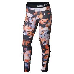 Тайтсы с принтом для девочек школьного возраста Nike ProТайтсы с принтом для девочек школьного возраста Nike Pro из эластичной ткани обеспечивают поддержку и комфорт во время игр и тренировок.<br>
