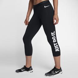 Женские капри для тренинга с графикой JDI Nike ProЖенские капри для тренинга с графикой JDI Nike Pro из эластичной влагоотводящей ткани можно носить самостоятельно или в качестве базового слоя для комфортной поддержкиво время тренировки.<br>