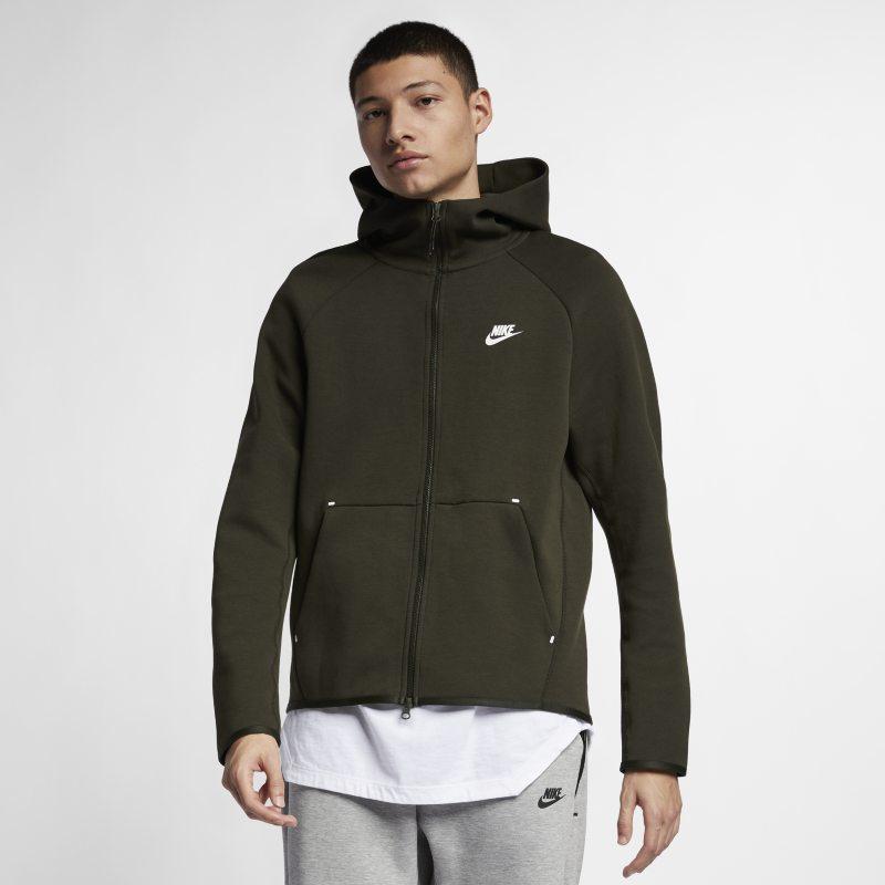 Nike Sportswear Tech Fleece Tam Boy Fermuarlı Erkek Kapüşonlu Üst  928483-355 -  Zeytuni S Beden Ürün Resmi