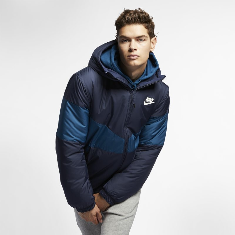 Nike Sportswear Synthetic Fill Men s Hooded Jacket - Blue  1b0d91c049c