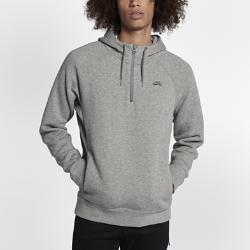 Мужская худи с молнией до середины груди Nike SB IconМужская худи с молнией до середины груди Nike SB Icon с начесом с изнаночной стороны обеспечивает регулируемую посадку, тепло и комфорт.<br>