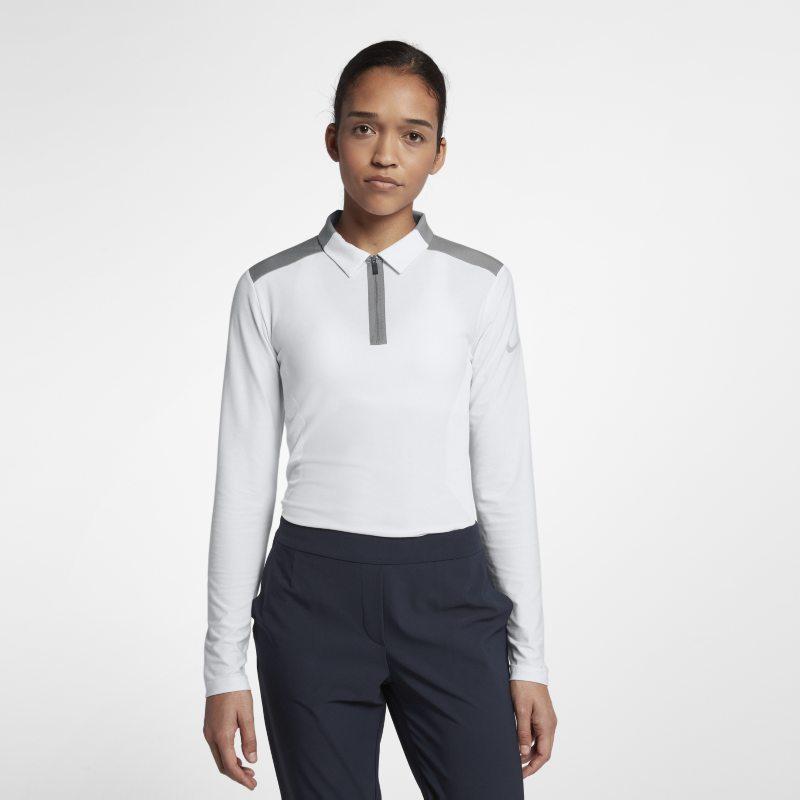 Nike Zonal Cooling Uzun Kollu Kadın Golf Polo Üst  929378-100 -  Beyaz XS Beden Ürün Resmi