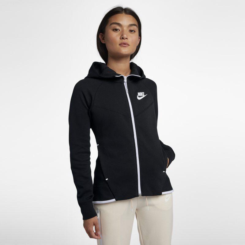Nike Sportswear Tech Fleece Windrunner Tam Boy Fermuarlı Kadın Kapüşonlu Üst  930759-011 -  Siyah XS Beden Ürün Resmi