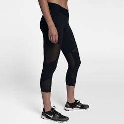 Женские укороченные тайтсы для тренинга Nike Fly LuxЖенские укороченные тайтсы для тренинга Nike Fly Lux созданы для самых интенсивных тренировок. Завышенный сзади пояс защищает поясницу и усиливает поддержку во время занятий велоспортом, а вставки из сетки обеспечивают охлаждение на протяжении всей тренировки.<br>