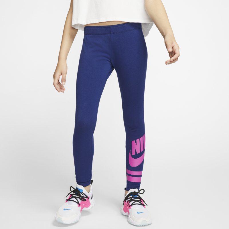 Leggings con grafica Nike Sportswear - Ragazza - Blu