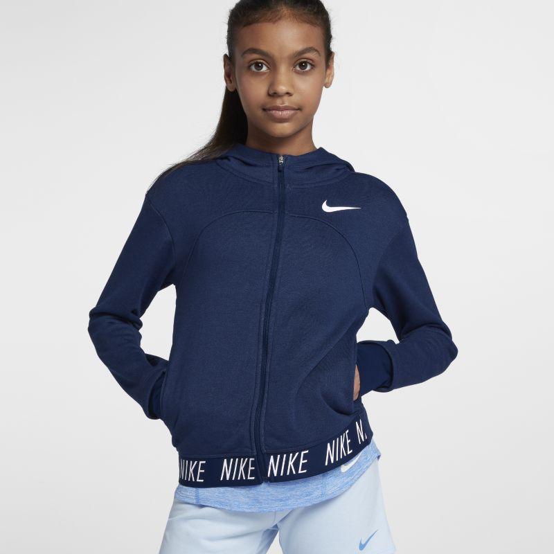 Nike Dri-FIT Core Studio Older Kids'(Girls') Full-Zip Training Hoodie - Blue