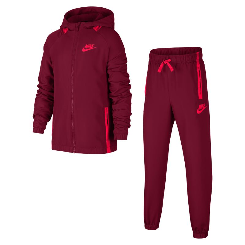 Nike Sportswear Older Kids'(Boys') Tracksuit - Red Image